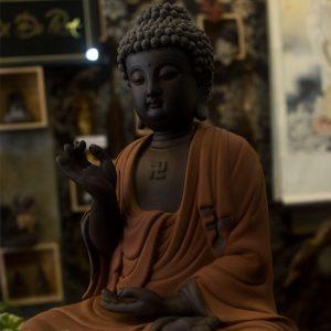 Phật A Di Đà gốm tử sa