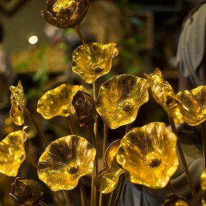 Hoa Sen Đồng Mạ Vàng