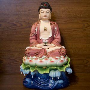 Tượng Phật A Di Đà Sứ Màu