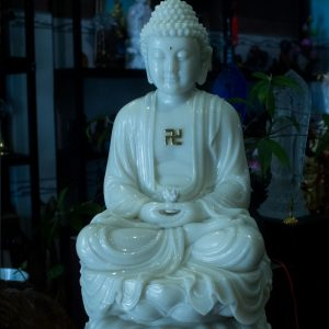 Tượng Phật A Di Đà Đá Trắng