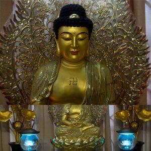Tượng Phật A Di Đà Ngồi Mạ Cát