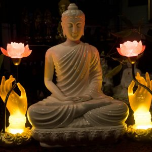 Đèn Tay Phật Cầm Hoa Sen