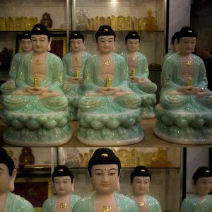Tượng Thất Phật Dược Sư Bằng Bột Đá