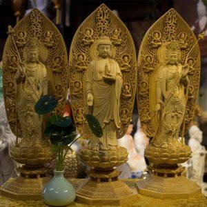 Tượng Đông Phương Tam Thánh Bằng Gỗ