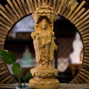Tượng Tây Phương Tam Thánh Bằng Gỗ