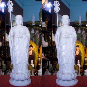 tượng địa tạng bồ tát bằng sứ