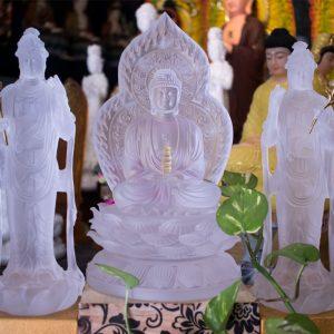 Tượng Đông Phương Tam Thánh Bằng Lưu Ly