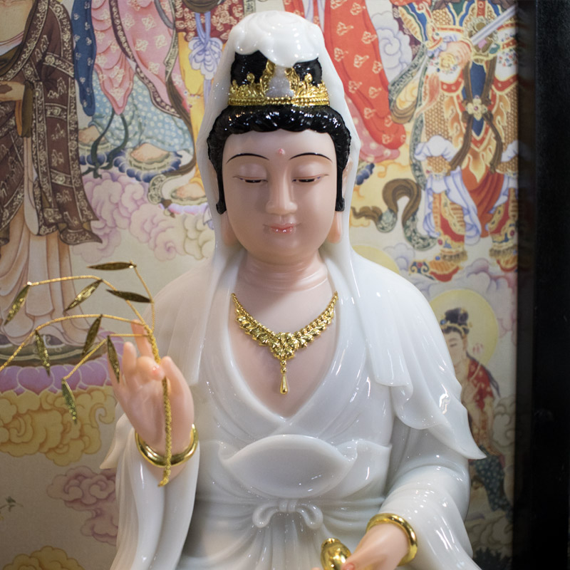 tượng ta bà tam thánh ngồi