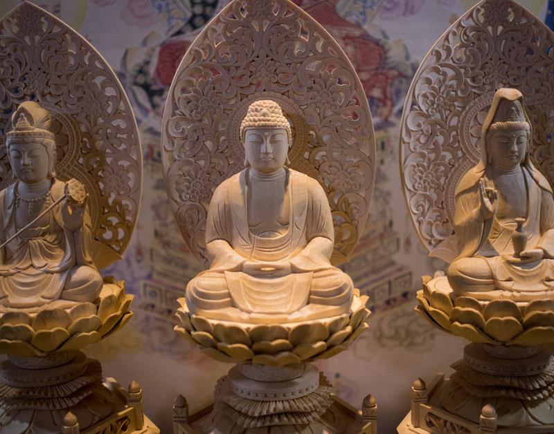 Tượng Phật A Di Đà tam tôn
