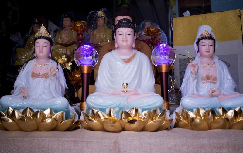Bộ Tây Phương Tam Thánh ngồi