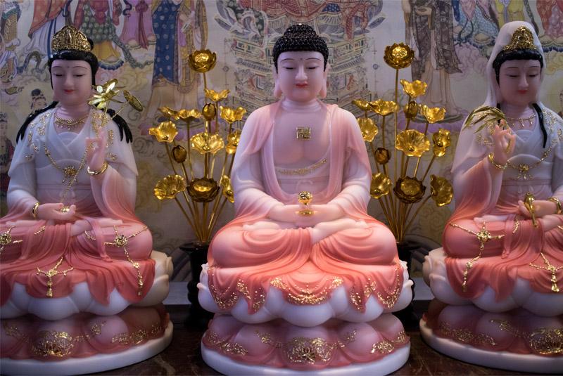 Tượng Tam Thế Phật Ngồi