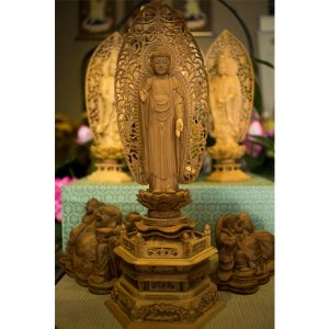 Tượng Phật A Di Đà Bằng Gỗ