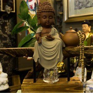 Tượng Phật A Di Đà Gốm Tử Sa