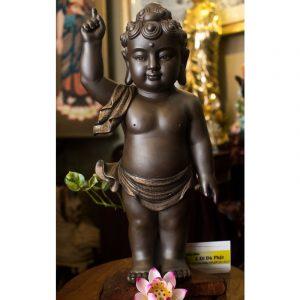 Tượng Phật đản sanh gốm tử sa