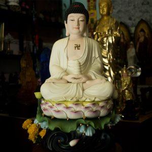 Tượng Phật Dược Sư Bằng Sứ