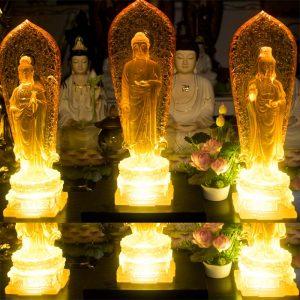 Tượng Tây Phương Tam Thánh Lưu Ly