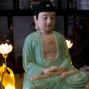 Tượng Phật Bổn Sư Thích Ca Bằng Bột Đá