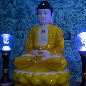 Tượng Phật A Di Đà Bằng Bột Đá