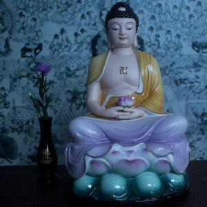 Tượng Phật A Di Đà Bằng Sứ Màu