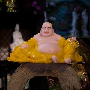 Tượng Phật Di Lặc Bột Đá Áo Vàng Đài Loan