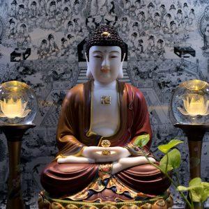 Tượng Phật A Di Đà Đá Bạch Ngọc