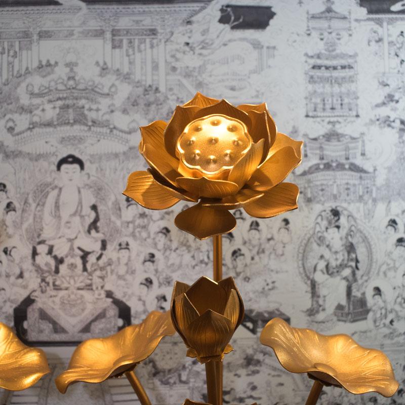 Hoa Sen Đồng Thờ Cúng