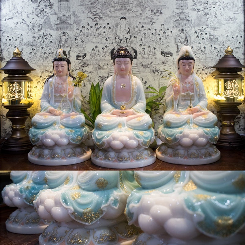 Tượng Phật Tây Phương Tam Thánh Ngồi