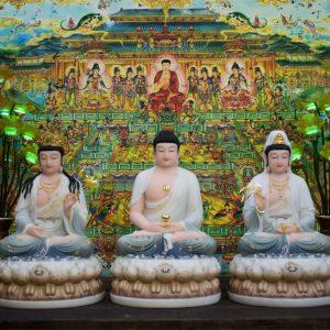 Tượng Phật Tây Phương Tam Thánh